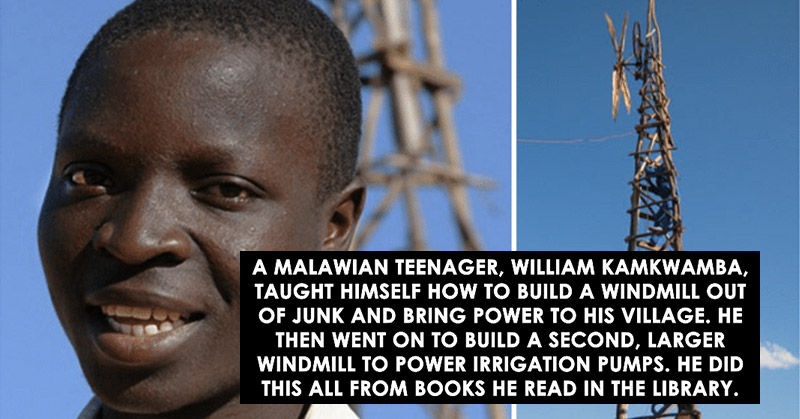 malawian teenager taught himself to build a windmill from junk